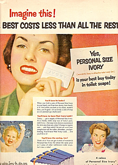 Ivory Soap Ad 1950 Ivory Soap Ivory SNOW At Miss Pack