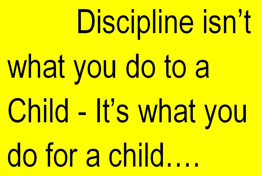 Discipline – YES PLEASE