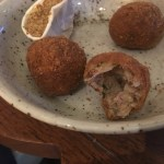 The interior of the boudin balls - Plaquemine Lock Islington