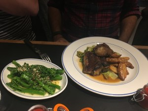 Lamb T-bones and purple sprouting broccoli - Foxlow Soho Review