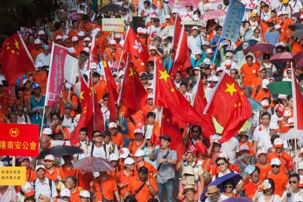 Thousands rally for China against pro-democracy movement ...