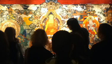 Buddhist mural at Rubin Museum of Art