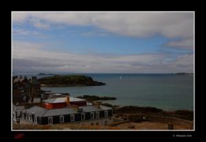 Saint-Malo (et l'océan) depuis les remparts