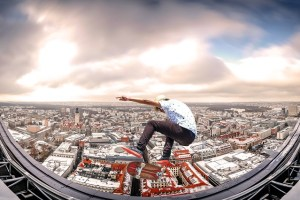 skateboarding in the city