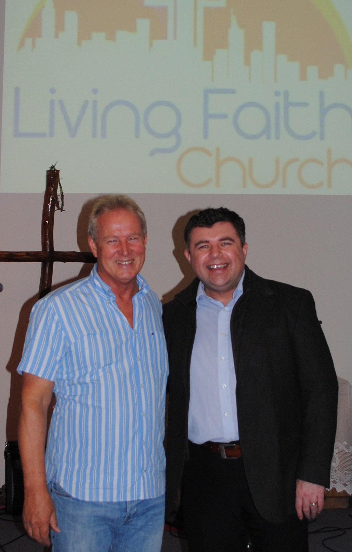 Ian McCormack and Bishop Steven Lyn Evans