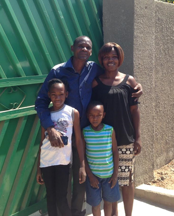 Bishop George Musandile with his family