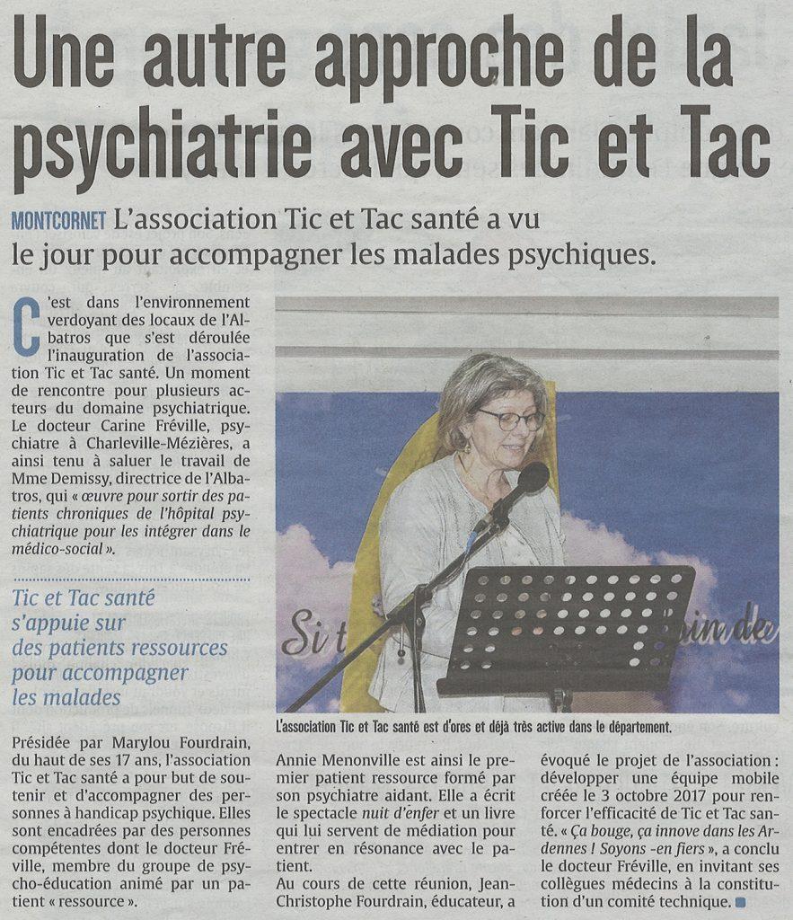 Une autre approche de la psychiatrie avec Tic et Tac Santé