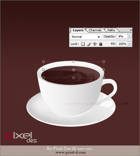 درس رسم كوب قهوة بالفوتوشوب