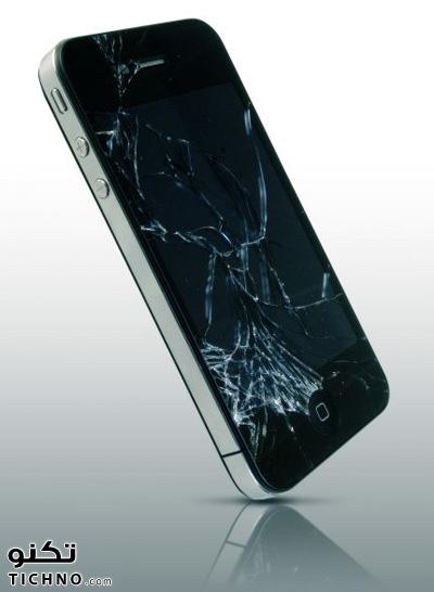 broken iphone screen - آي فون مكسورة شاشته