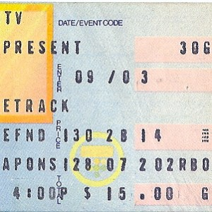 1983 The Police ticket stub Hollywood Race Track