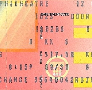 1984 Neil Young ticket stub Universal Amphitheater