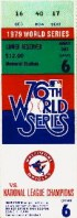 1979 World Series Game 6 ticket stub Pirates at Orioles