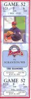 2003 Richmond Braves ticket stub vs Red Wings