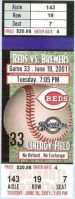 Brewers at Reds 2001