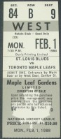 Blues at Maple Leafs  1988