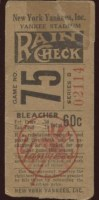 1951 Allie Reynolds 2nd No Hitter ticket stub