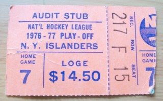 1977 NHL Conf Finals Habs at Isles stub