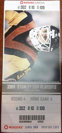 2011 Stanley Cup Final Game 7 ticket stub Bruins at Canucks