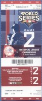 2009 World Series Game 2 ticket Phillies at Yankees