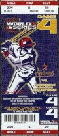 2005 World Series Game 4 ticket White Sox at Astros