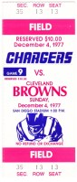 1977 Browns at Chargers