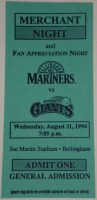 1994 Bellingham Mariners ticket stub vs Everett Giants
