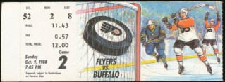 1988 Sabres at Flyers stub