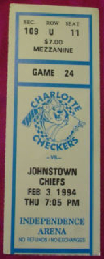 1994 ECHL Chiefs at Checkers