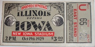1929 NCAAF Illinois at Iowa