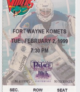 1999 IHL Ft. Wayne Komets at Detroit Vipers