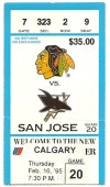 1995 Sharks at Blackhawks
