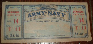 1943 NCAAF Navy at Army Michie Stadium
