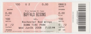 2008 MiLB Int'l League Red Wings at Bisons stub