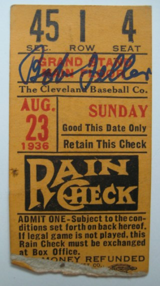 1936 St. Louis Browns at Cleveland Indians  stub
