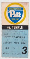 1986 NCAAF Temple at Pittsburgh
