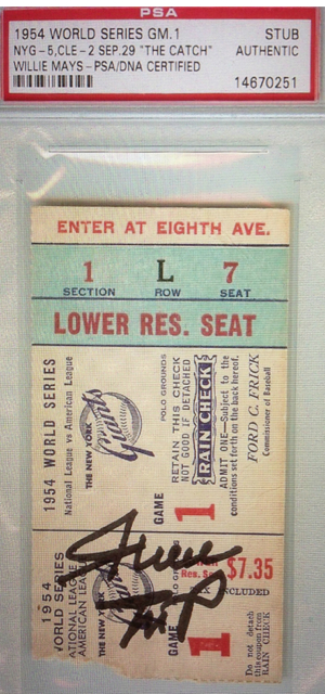 1954 World Series Gm 1 Indians at Giants  stub