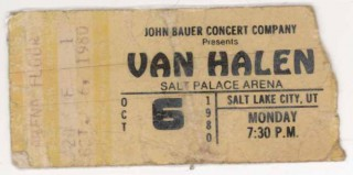 1980 Van Halen Salt Lake City