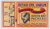 1938 Packers vs Chicago Cardinals Ticket Stub