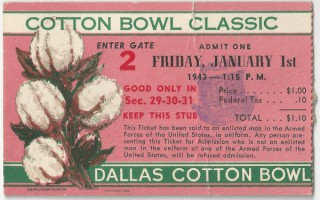 1943 Cotton Bowl Georgia Tech vs Texas