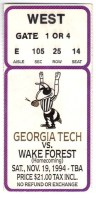 1994 NCAAF Wake Forest at Georgia Tech