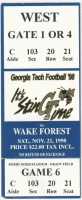 1998 NCAAF Wake Forest at Georgia Tech