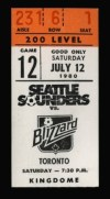 1979 NASL Toronto Blizzard at Seattle Sounders