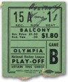 1946 NHL Playoffs Game 4 ticket stub Bruins vs Red Wings