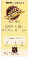 1984 Canadiens at Canucks