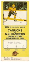 1986 Rangers at Canucks