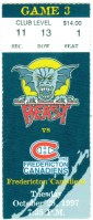 1997 AHL Beast of New Haven ticket stub vs Fredericton