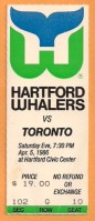 1986 Toronto Maple Leafs at Hartford Whalers