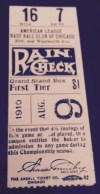 1910 Red Sox at White Sox ticket stub