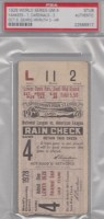 1928 World Series Game 4 Ticket Stub New York vs St. Louis