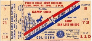 1941 Army Football at Fort Ord